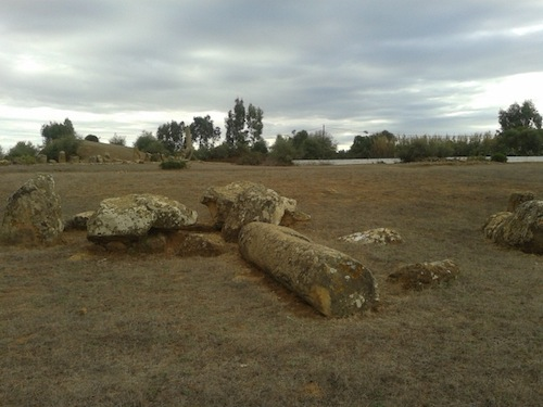 Part of the cluster of stones at the satellite site.