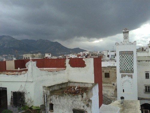 A rooftop view. Those clouds didn't go away for two days. If you're going to Morocco expecting to see desert, you need to head a couple of hundred miles south of here.