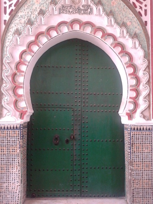 A door to a palace built in 1823 (1239 in the Islamic calendar)