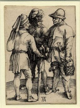 https://en.wikipedia.org/wiki/List_of_engravings_by_D%C3%BCrer#/media/File:14_Three_Peasants_in_Conversation.jpg;