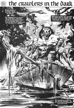 "Buscema/DeZuniga splash page from ""Beyond the Black River"""