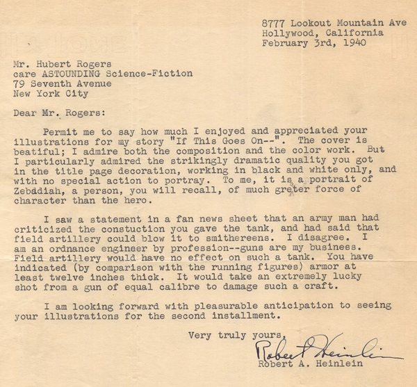 Heinlein letter to Hubert Rogers If This Goes On-small