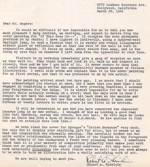 Heinlein letter to Hubert Rogers-small