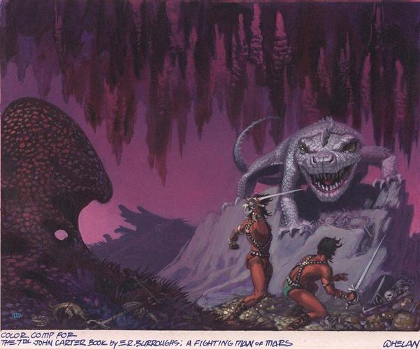Michael Whelan's rough art for A Fighting Man of Mars by Edgar Rice Burroughs-small