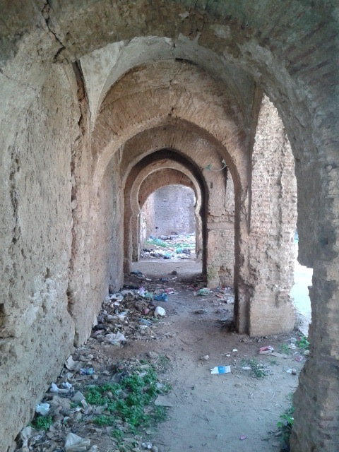 The interior of the fort has become a local gathering place for drug addicts and perhaps other activities.