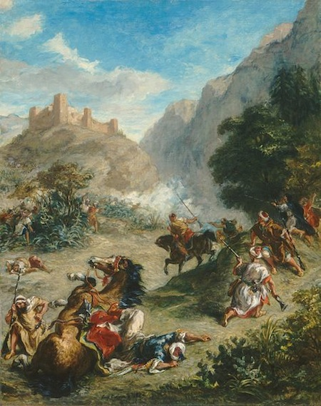 """Arabs Skirmishing in the Mountains"" by Eugène Delacroix, 1863. Courtesy Wikimedia Commons."