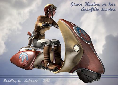 Grace Keaton on her Aeroflite