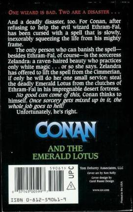 Conan and the Emerald Lotus-back