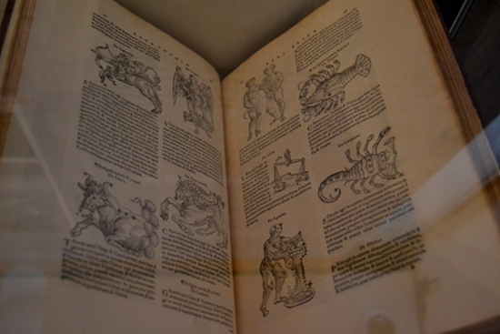 A 1550 edition of Guido Bonatti's 13th century Ten Treatises on Astronomy, with some lovely depictions of the zodiac.