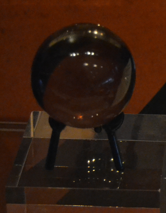 Dee used this crystal ball to communicate with angels, although his journal records only one sighting, on May 25, 1581.