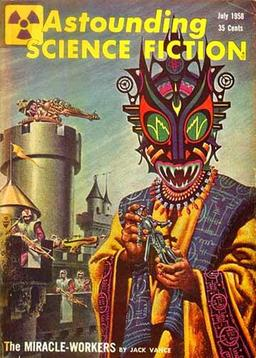 Astounding Science Fiction July 1958 The Miracle Workers Jack Vance-small