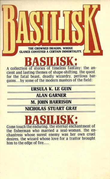 Basilisk Ellen Kushner-back-small