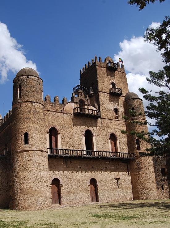 The palace of Fasiladas, Gondar, Ethiopia.