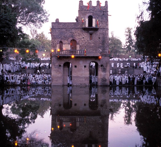 Crowds gather at the Fasilides' Bath in Gondar to celebrate Timkat – the Epiphany for the Ethiopian Orthodox Church. Photo courtesy Jialiang Gao.