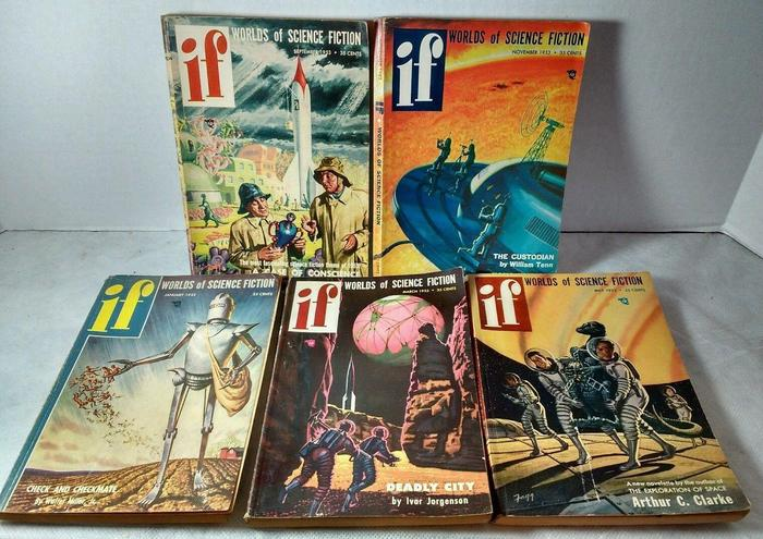 If Worlds of Science Fiction 50s lot-small
