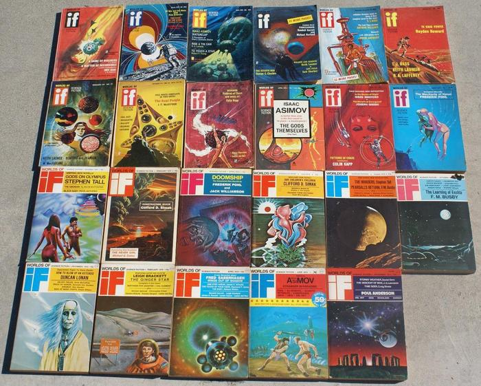 If Worlds of Science Fiction 70s lot-small
