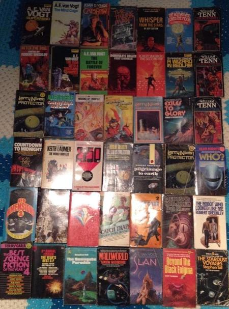 Lot of 42 Science Fiction Paperbacks-small