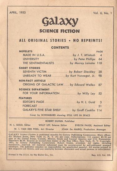Galaxy April 1953 contents-small