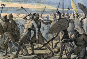 Harold II killed by Norman arrow at Battle of Hastings, 1066