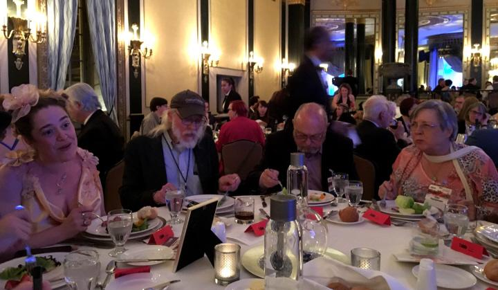 CSE Cooney Richard Chwedyk Joe Haldeman and Gay Haldeman at the Nebula Awards banquet-small