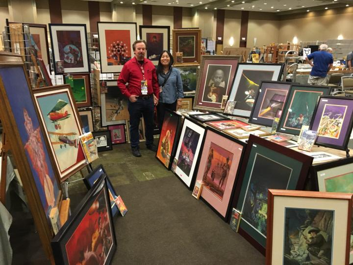 Craig Poole's fabulous booth at Windy City Pulp 2016-small