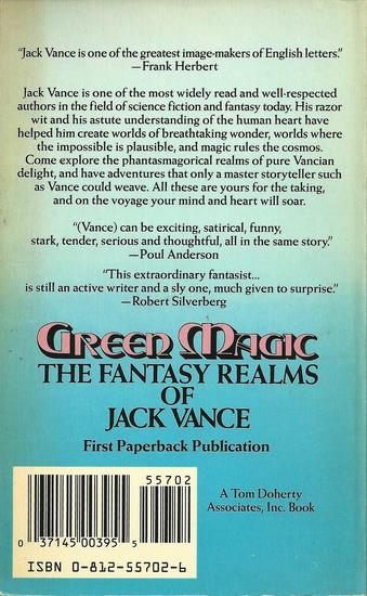 Green Magic Jack Vance-back-small