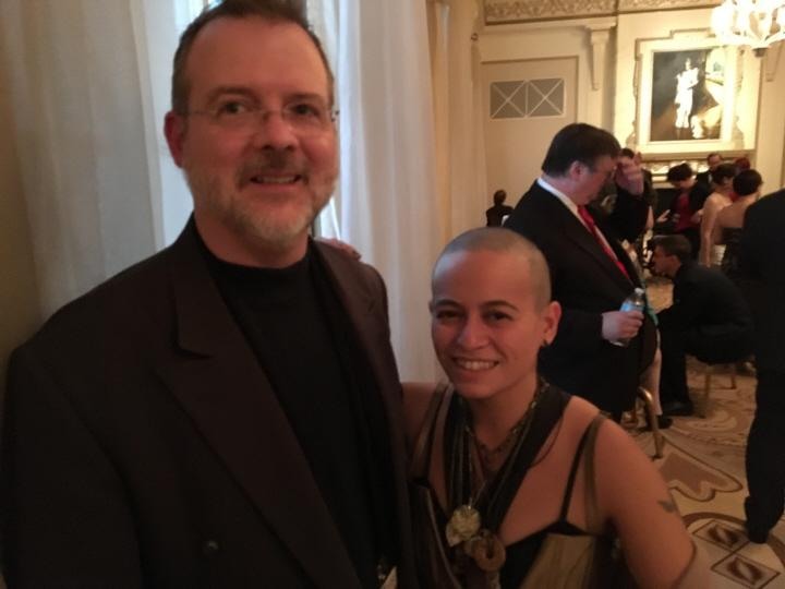 John O'Neill and Eva L Elasigue at the 2016 Nebula Awards Reception-small