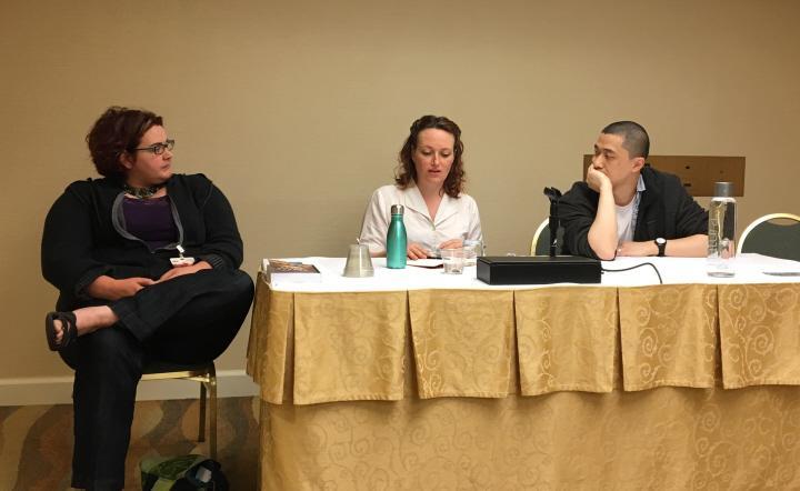 Kameron Hurley Mary Robinette Kowal and Ken Liu on the Fundamentals of Freelancing-small