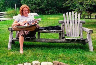 Kelley McCarron and her ukuele