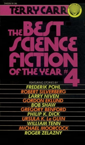 The Best Science Fiction of the Year 4 Terry Carr-small