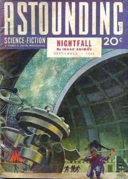 "Astounding Science Fiction, September 1941, containing Asimov's ""Nightfall."" Cover by Hubert Rogers"
