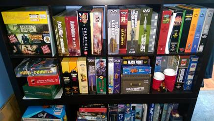 Dean's game collection.