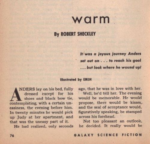Galaxy June 1953 Warm by Robert Sheckley