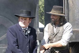 Thomas 'Doc' Durant (Colm Meaney) and Cullen Bohannon (Anson Mount) - Hell On Wheels - Season 2, Episode 9 - Photo Credit: Chris Large/AMC