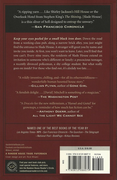 Slade House David MItchell back cover-small