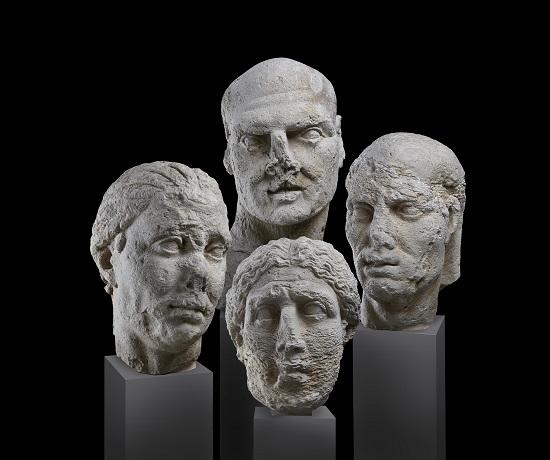 24. Roman portrait heads. Lent by Museo archeologico regionale ÔÇ£Paolo OrsiÔÇØ di Siracusa -® Ashmolean Museum, University of Oxford