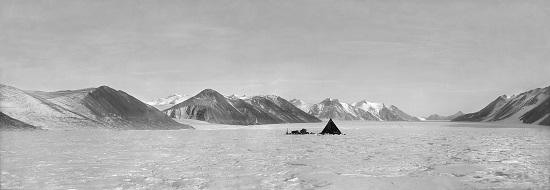 Captain Robert Falcon Scott - Camp on Ferrar Glacier, Overflow Glacier and Royal Society Range