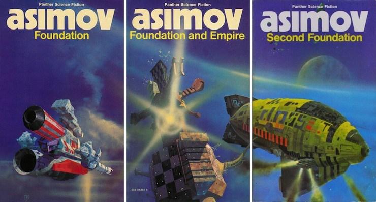 Isaac Asimov Foundation Trilogy UK editions