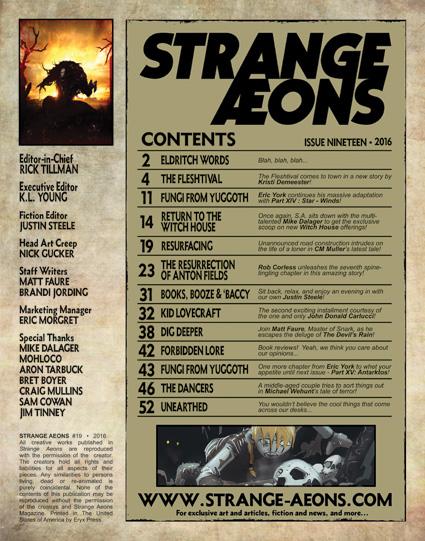 Strange Aeons 19 page 1