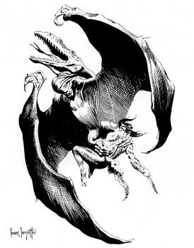 pellucidar-line-art-frazetta