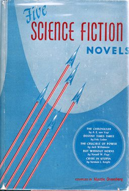 Gnome Press Five Science Fiction Novels cover by Frank Kelly Freas