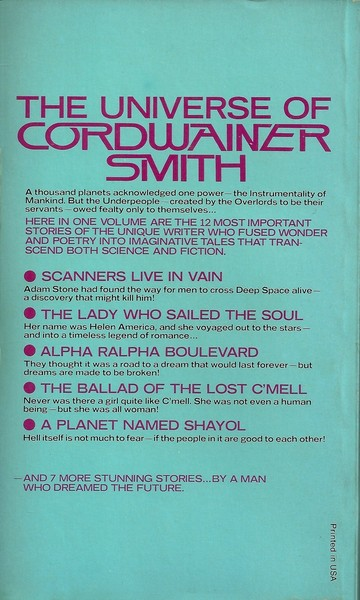 The Best of Cordwainer Smith-back-small