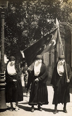 The demonstrations were unusual in that women also took part.