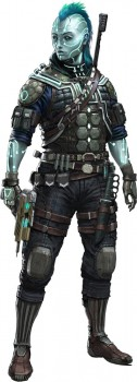 Iseph, an android operative from Starfinder