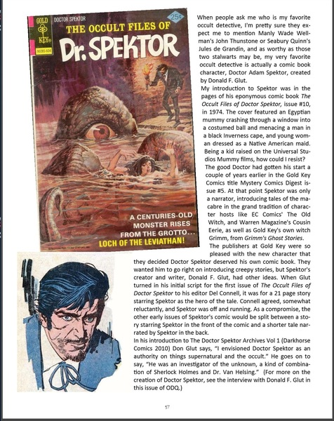 Occult Detective Quarterly 1-Dr Spektor-small