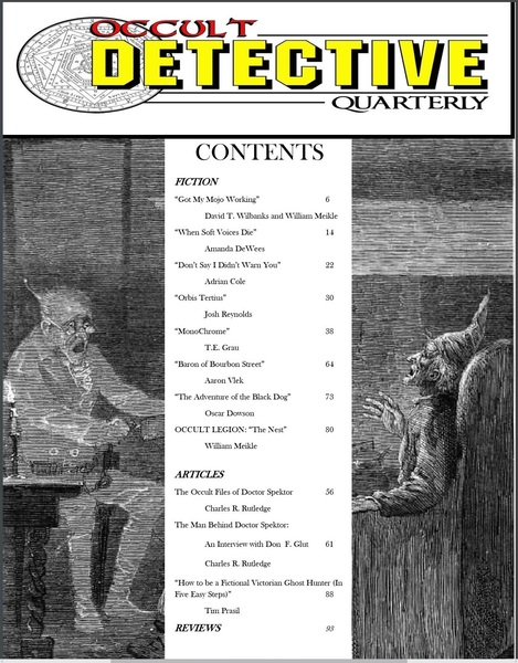 Occult Detective Quarterly 1-contents-small