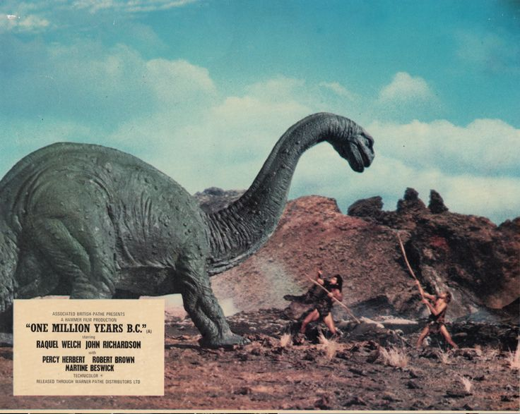 one-million-year-bc-lobby-card-brontosaurus