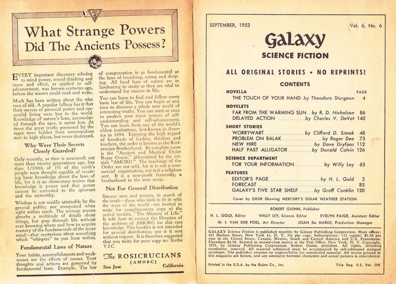 Galaxy Science Fiction September 1953-contents-small