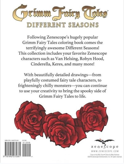 Grimm Fairy Tales Adult Coloring Book-back-small