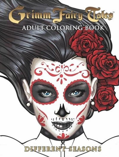 Grimm Fairy Tales Adult Coloring Book-small